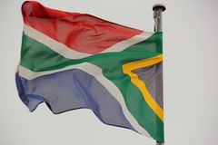 Flagga av Sydafrika Royaltyfri Fotografi