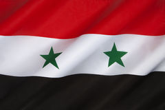 Flagga av Syrien - Mellanösten Royaltyfri Bild