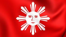 Flagga av Tagalogfolk royaltyfri illustrationer