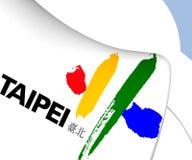 Flagga av Taipei royaltyfri illustrationer