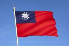 Flagga av Taiwan Arkivfoto