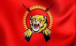 Flagga av tamilen Eelam royaltyfri illustrationer