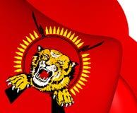 Flagga av tamilen Eelam stock illustrationer