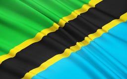 Flagga av Tanzania, Dodoma stock illustrationer
