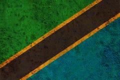 Flagga av Tanzania på rostig metall Royaltyfri Fotografi