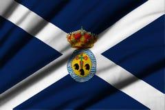 Flagga av Tenerife Arkivbilder