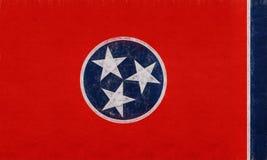 Flagga av Tennessee Grunge Arkivbilder