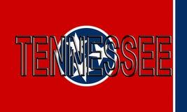 Flagga av Tennessee Word Royaltyfri Foto