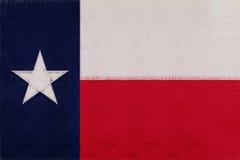 Flagga av Texas Grunge Royaltyfria Bilder