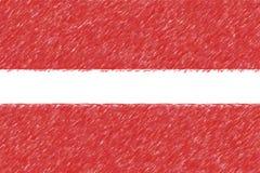 Flagga av textur för Lettland bakgrundsnolla, färgblyertspennaeffekt Royaltyfria Foton