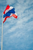 Flagga av Thailand Fotografering för Bildbyråer
