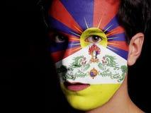 Flagga av Tibet Arkivfoto