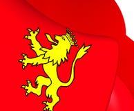 Flagga av Tineo, Spanien vektor illustrationer