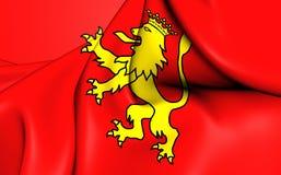 Flagga av Tineoen, Spanien royaltyfri illustrationer