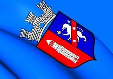 Flagga av Tirana, Albanien stock illustrationer