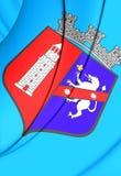 Flagga av Tirana, Albanien royaltyfri illustrationer
