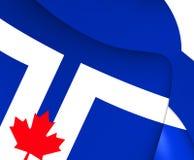 Flagga av Toronto, Kanada royaltyfri illustrationer