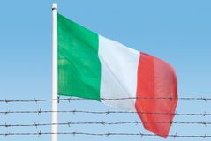 Flagga av trådar arkivfoto