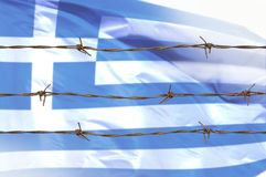 Flagga av trådar royaltyfri bild