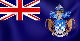 Flagga av Tristan da Cunha vektor illustrationer