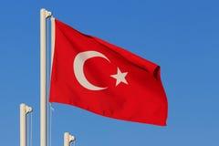 Flagga av Turkiet Royaltyfri Fotografi