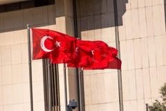Flagga av Turkiet Arkivfoto