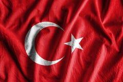 Flagga av Turkiet fotografering för bildbyråer