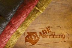 Flagga av Tyskland som göras i Tyskland Royaltyfria Bilder