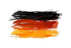 Flagga av Tyskland som göras med färgrika färgstänk Royaltyfri Foto