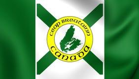 Flagga av uddeBretonön royaltyfri illustrationer