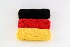 Flagga av ull Tyskland Royaltyfri Bild