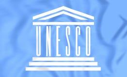 Flagga av UNESCO royaltyfri illustrationer