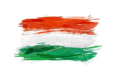 Flagga av Ungern som göras med färgrika färgstänk Royaltyfria Foton