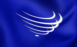 Flagga av unionen av söder - amerikanska nationer vektor illustrationer
