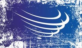 Flagga av unionen av s?der - amerikanska nationer Rynkiga smutsiga fläckar stock illustrationer