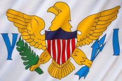 Flagga av USA Jungfruöarna Royaltyfri Bild
