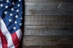 Flagga av USA på ren bakgrund Arkivfoto