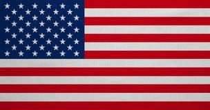 Flagga av USA, verklig detaljerad tygtextur, mycket stort format arkivfoto