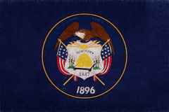 Flagga av Utah Grunge Fotografering för Bildbyråer