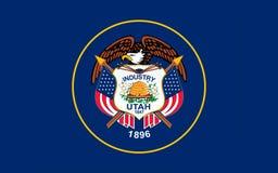 Flagga av Utah, USA Arkivfoton