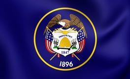 Flagga av Utah, USA stock illustrationer