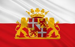 Flagga av Utrecht, Nederländerna royaltyfri fotografi