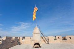 Flagga av Valencia Arkivfoto