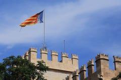 Flagga av Valencia, Spanien Royaltyfri Foto
