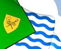 Flagga av Vancouver, Kanada vektor illustrationer