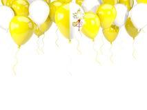 Flagga av Vatican City på ballonger Royaltyfria Bilder