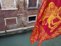 Flagga av Venedig, Italien Royaltyfria Foton