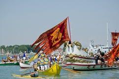 Flagga av Venedig på den Festa dellaen Sensa Royaltyfri Fotografi