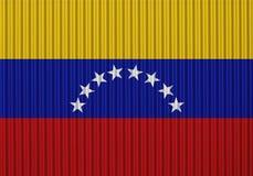 Flagga av Venezuela på korrugerat järn Royaltyfria Bilder