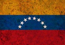 Flagga av Venezuela på rostig metall Royaltyfri Bild